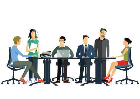 consultancy: Business teamwork Illustration