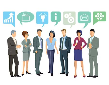 differentiate: Together, Business Ideas Illustration
