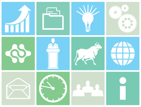 Business-Konzept-Symbol Vektorgrafik
