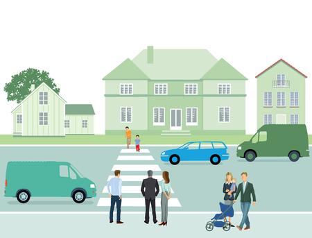 crosswalk: Pedestrian crosswalk Illustration