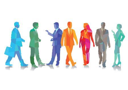 Colors Joyful business  イラスト・ベクター素材