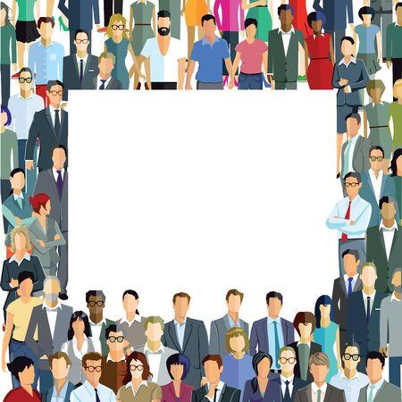 hustle: Crowd, group