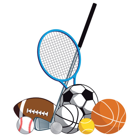 sports equipment: Sports playground equipment Illustration