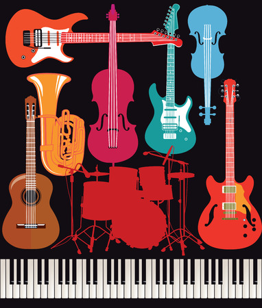 musical instrument: abstract musical instrument Illustration