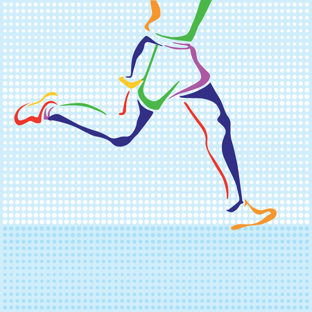 quickly: Sportsman Abstract