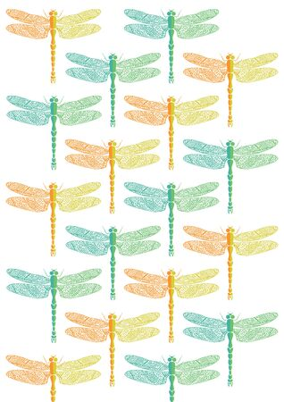insect flies: dragonfly pattern Illustration