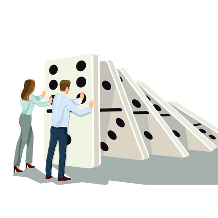 domino effect: Domino effect Illustration