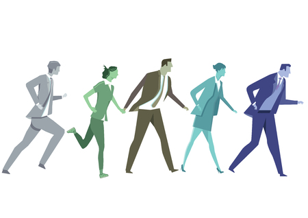 competitors: Businessmen running with Competitors Illustration
