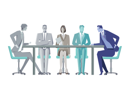 convention: Group of business people around a conference table