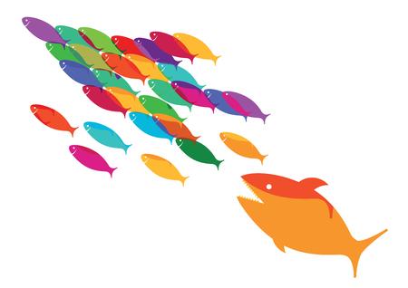 Fish on the run Иллюстрация