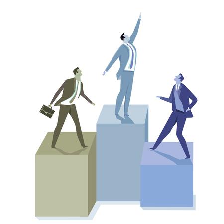 Business development infographic Illustration