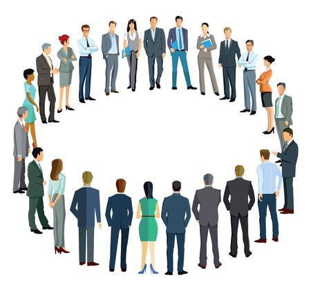 circulo de personas: La gente de negocios que forman un círculo