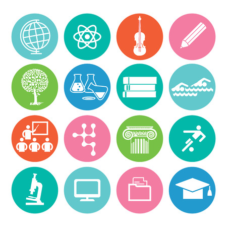study icon: Education and study icon Illustration