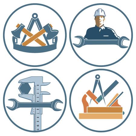 workmanship: Craftsman, locksmith, carpenter, banner