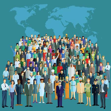 poblacion: Población mundial Vectores