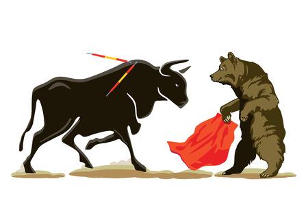 Bear to the Bull at the Bullfighting