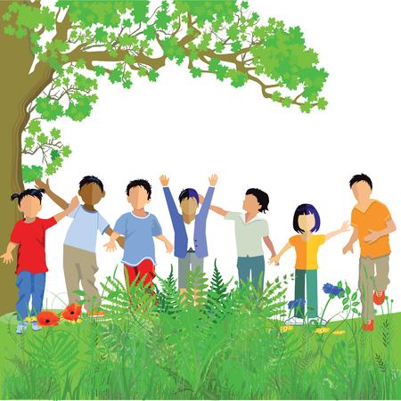 felicity: Fun kids play in the meadow
