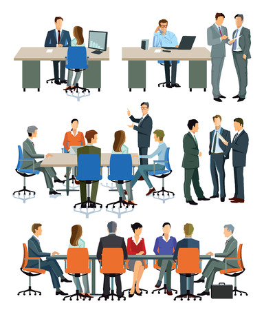64,653 Office Meeting Stock Vector Illustration And Royalty Free ...