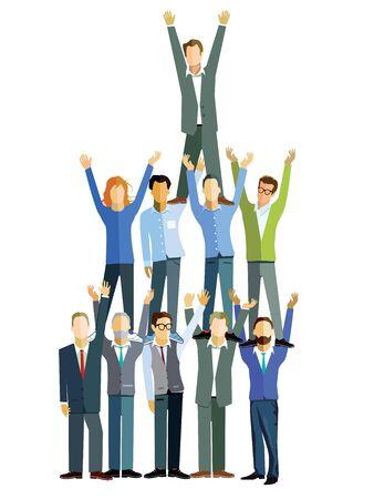 successful teamwork concept Illusztráció