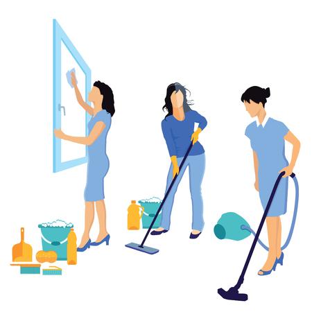 Reinigung und Hausreinigung Vektorgrafik