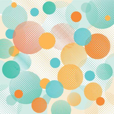 retro wallpaper: Geometric dots illustration Illustration