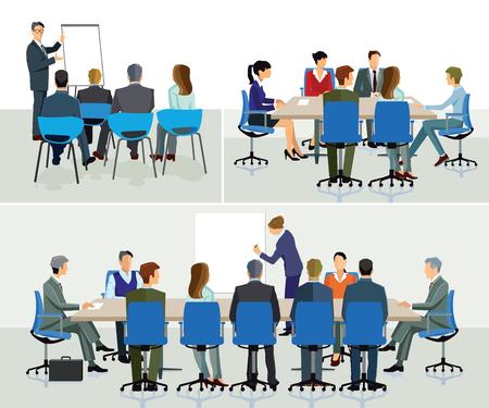 Business seminar and speaker doing presentation