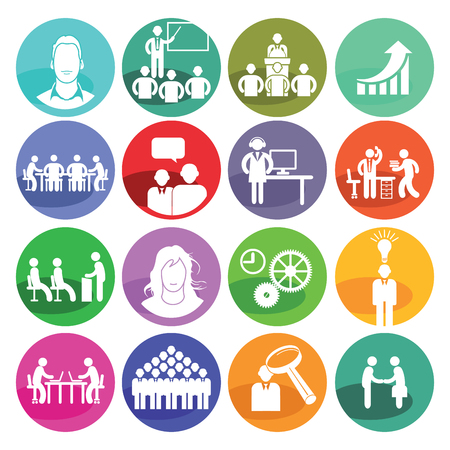 Business concept icon set Vettoriali