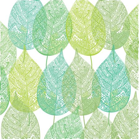 녹색 식물 패턴 그림을 나뭇잎
