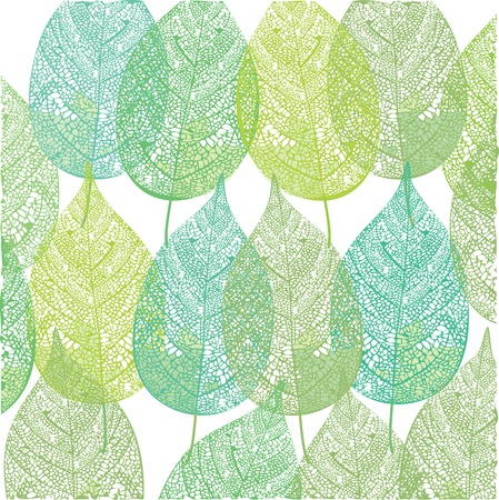 Green plant leaves pattern illustration