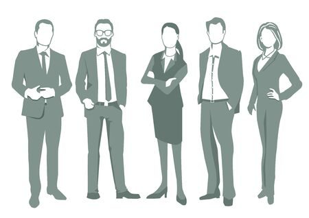 associate: Group of business people illustration, isolated Illustration