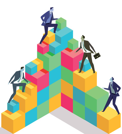 Succesvolle zakelijke carrière, illustratie Stock Illustratie