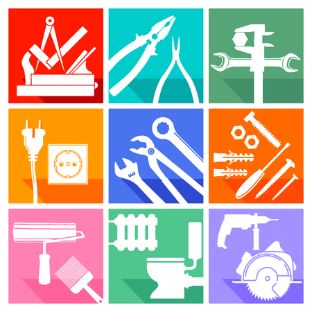 workmanship: Tool sign, locksmith, carpenter, carpenter, painter, plumber
