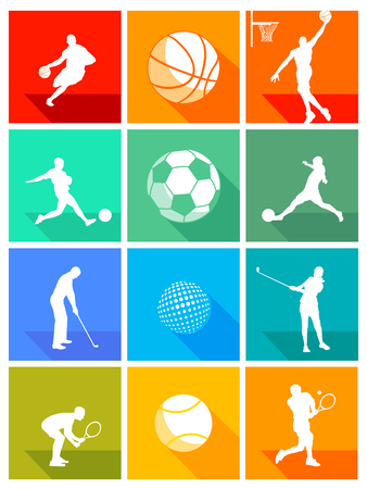 sports equipment: Sports equipment and athletes
