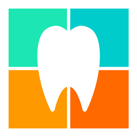 advertising signs: Tooth icon, symbol illustration