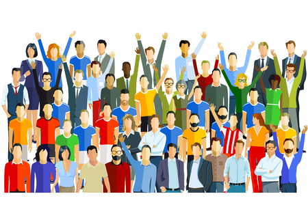 Group of people and crowd Illustration