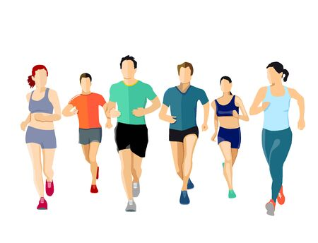 quickness: A group of runners, illustration