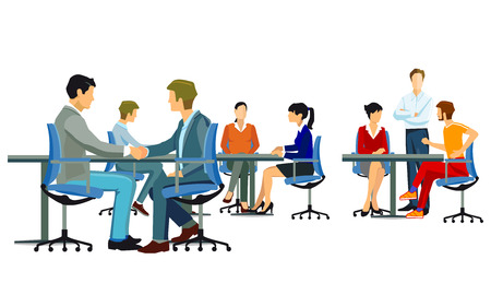 Welcome in the company with handshake Illustration