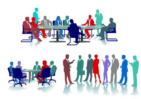 Conferencia de negocios, seminario, ilustración Foto de archivo - 81038990