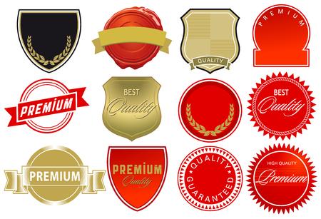 High quality label elements, illustration