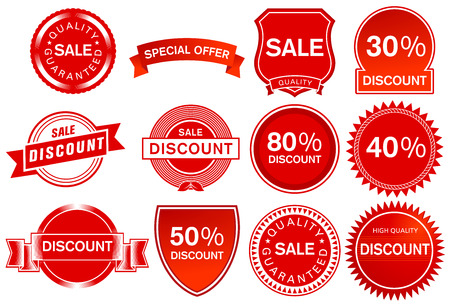 Sale label elements, illustration