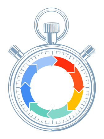 completion: Countdown time concept, pictogram Illustration