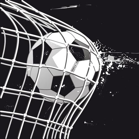 Football goal, goalshot, illustration illustration. Иллюстрация