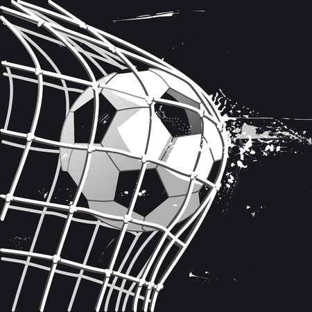 Football goal, goalshot, illustration illustration. Illustration
