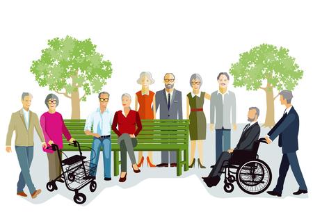Elderly people and seniors