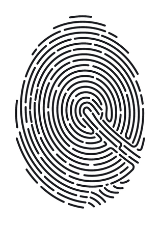Fingerprint. Secure identification Ilustracja