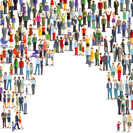 Grand groupe de personnes et de la foule