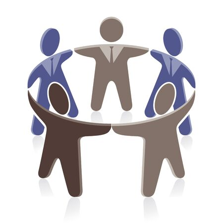 Together symbolic illustration Reklamní fotografie - 86955414