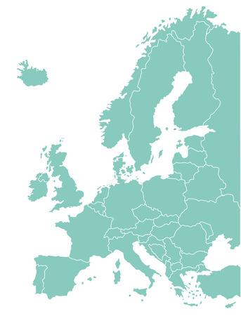 ヨーロッパの地図、地理的なグラフィック  イラスト・ベクター素材