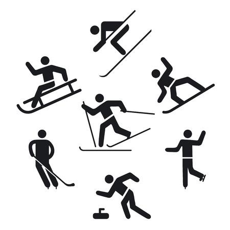 Wintersportpiktogramm des Eissports Vektorgrafik