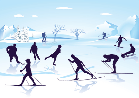 Winter sports illustration